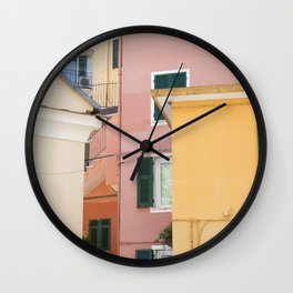 Colours of Cinque Terre, Italy Wall Clock