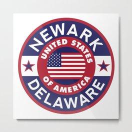 Delaware, NEWARK Metal Print