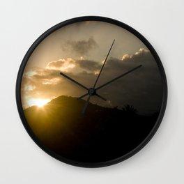 Mountain Sunset in Kauai, Hawaii Wall Clock