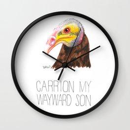 Carrion My Wayward Son (Yellow-headed Vulture) Wall Clock