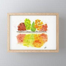 Autumn Reflections Framed Mini Art Print