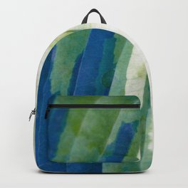 Colors of Nature - Hosta Leaf in Garden - Pattern Photography - Botanic Wall Art Backpack