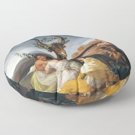 Witches Sabbath by Francisco Goya (1798) Floor Pillow