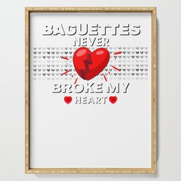 Baguettes Never Broke My Heart Serving Tray