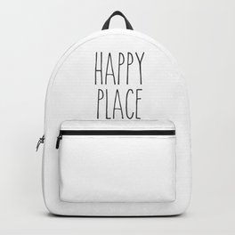 Happy Place Saying Backpack