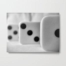 Domino 1 + 3  Metal Print