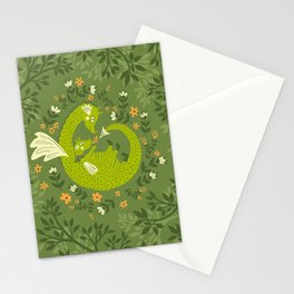 Mama and Baby Dragon Stationery Cards