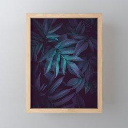 blue green plant leaves garden planta verde azul hojas jardín Framed Mini Art Print
