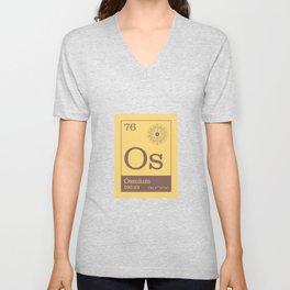 Periodic Elements - 76 Osmium (Os) Unisex V-Neck