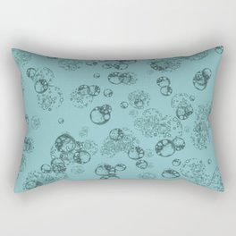 Arabidopsis protoplast cells microscopy pattern teal Rectangular Pillow