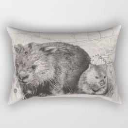 Path to wombat pool Rectangular Pillow
