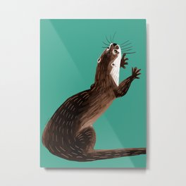 Asian small-clawed otter Marine Metal Print