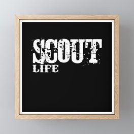 Scout Life Camping Framed Mini Art Print