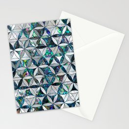 Flower of life pattern - Pearl and abalone Stationery Cards