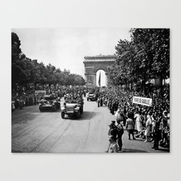 Liberation of Paris Parade - 1944 Canvas Print