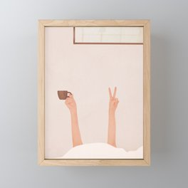 Good Peaceful Morning Framed Mini Art Print
