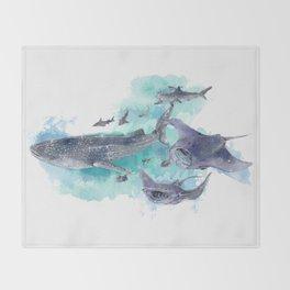 Star Sharks & Rays Throw Blanket