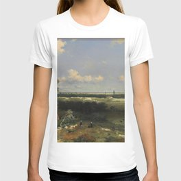 View Of Haarlem 1848 By Johan Hendrik Weissenbruch | Reproduction T-shirt