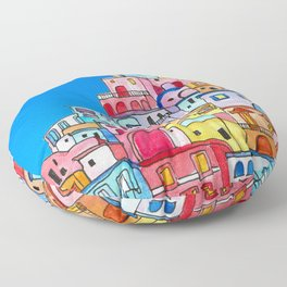 Amalfi Coast  Floor Pillow
