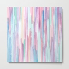 Playful Stripes of Pastel Colors Metal Print