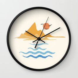 Minimalistic Summer III Wall Clock