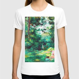 Pierre-Auguste Renoir - Woman Reading In A Clearing - Digital Remastered Edition T-shirt