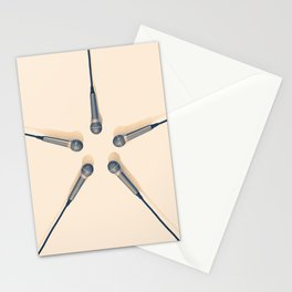 Microphones Stationery Cards