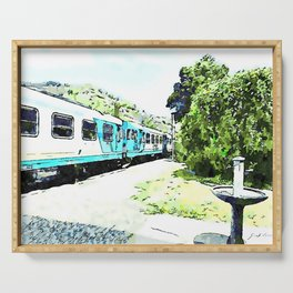 Fognano: departing train Serving Tray
