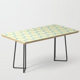 Bright Yellow Blue  Geometrical Pattern Design Coffee Table