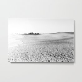 minimalistic black and white landscape in Toscany, Italy Metal Print