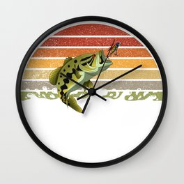 Vintage Largemouth Bass Chasing Lure Crankbait Wall Clock