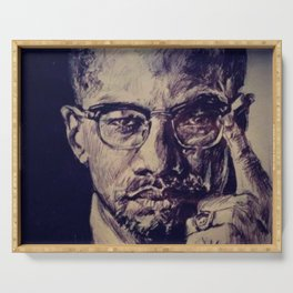 Malcolm X Serving Tray