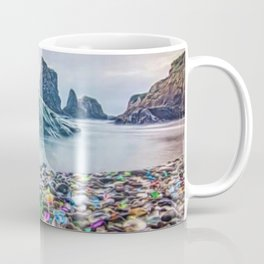 MacKerricher Bottle Sea Glass Beach, California Portrait Coffee Mug