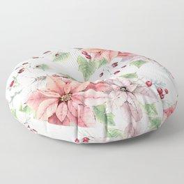 Poinsettia 2 Floor Pillow