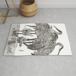 Birdhouses Rug