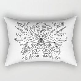 Modern Snowflake 2 Rectangular Pillow