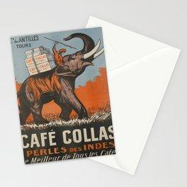 Retro Placard cafe collas la perle des indes cie Stationery Cards