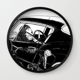 asc 432 - Le bolide noir (Never go into a black car) Wall Clock