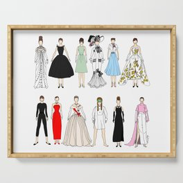 Outfits of Audrey Fashion (White) Serving Tray