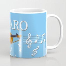 Tango Canaro Violin with Music Notes Coffee Mug