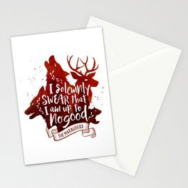 I solemnly swear - white Stationery Cards