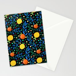 Citrus ,summery,colourful pattern  Stationery Cards