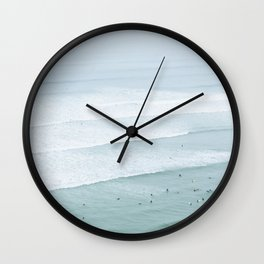 Tiny Surfers from the Sky 3, Lima, Peru Wall Clock