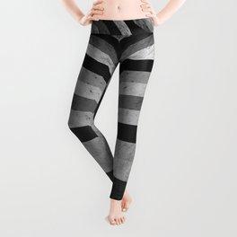 BRUTALISM: Symmetrical Concrete Rorschach Stripes Leggings