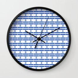 flag of israel 13-יִשְׂרָאֵל ,israeli,Herzl,Jerusalem,Hebrew,Judaism,jew,David,Salomon. Wall Clock