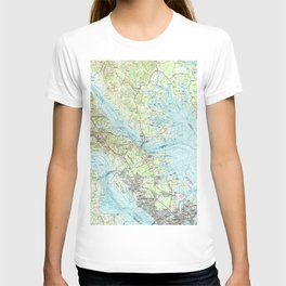 Tidewater Virginia Map (1984) T-shirt