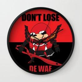 Don't Lose De Wae Wall Clock