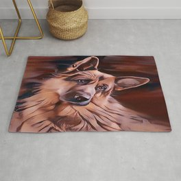 Long Haired German Shepherd Rug