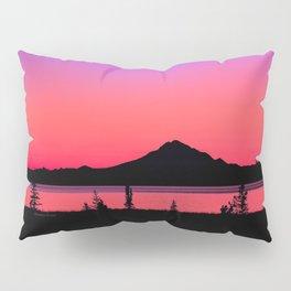 Pink Sunset Silhouette - Mt. Redoubt, Alaska Pillow Sham