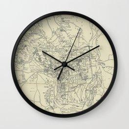 Vintage Map of Jerusalem Israel (1917) Wall Clock